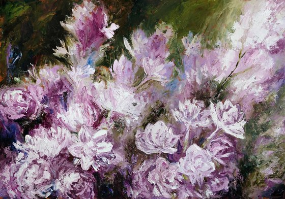 Abstract lilac   100*70 cm
