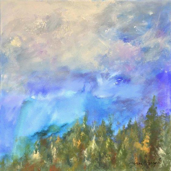 Early Light 3 - Acrylic painting, 50 x 50cm
