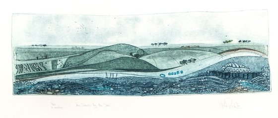 """Heike Roesel """"The Downs by the Sea"""", fine art etching, edition of 45 in variation"""