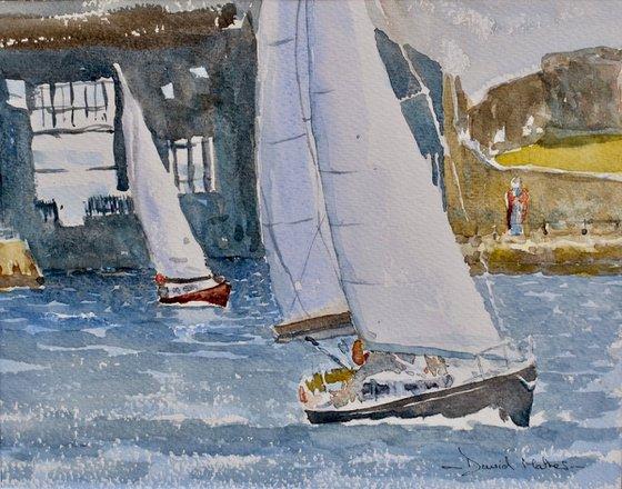 Sailing off King Billie