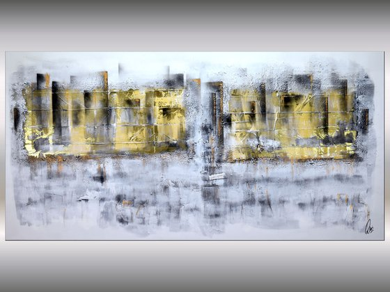 City Lights  - Abstract Art - Acrylic Painting - Canvas Art - Abstract Painting - Industrial Art - Statement Painting