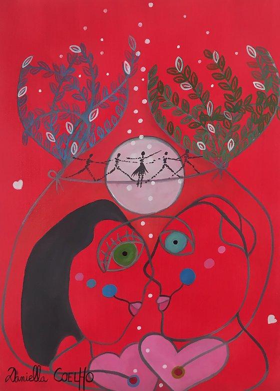 Les amoureux et la Lune