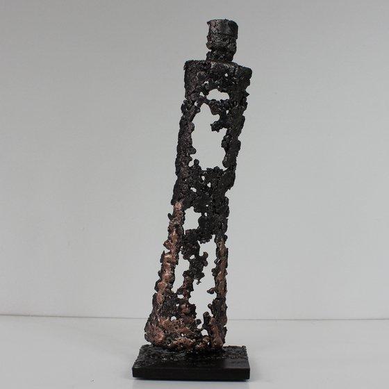 Bottle LXVI - Gin bottle sculpture steel bronze
