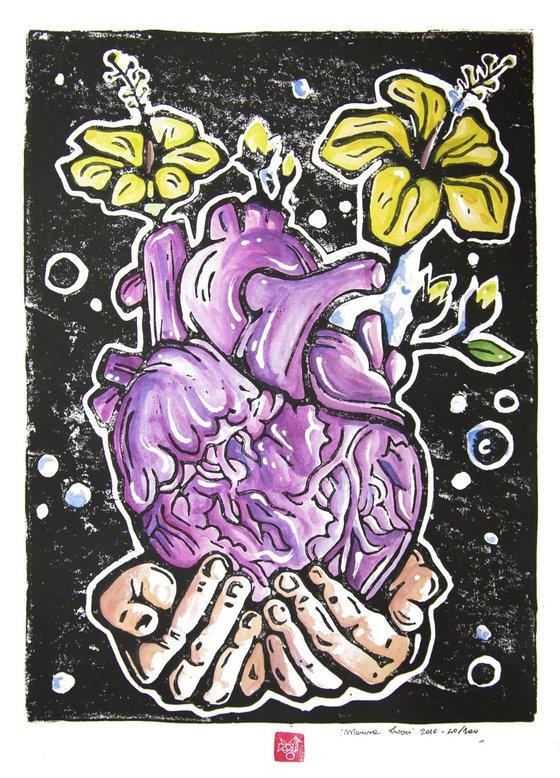 Heart- watercolors version