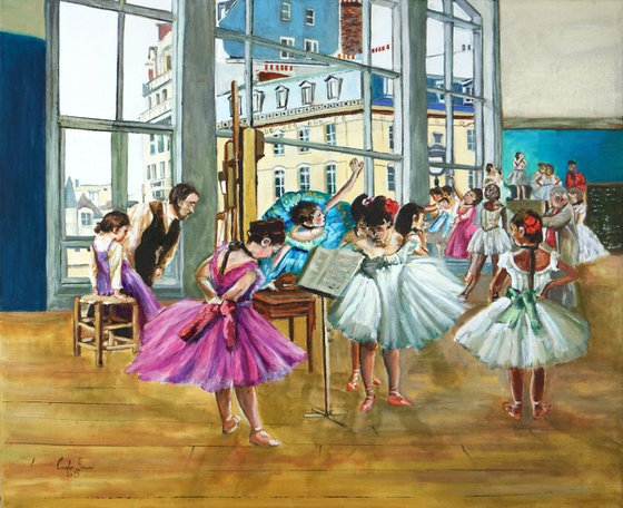 Degas and the Ballerinas painting