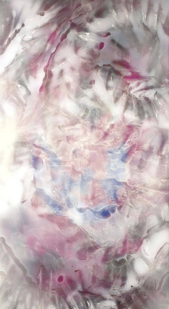 Original Painting - Resin art on medium canvas - wall art - Synthesis