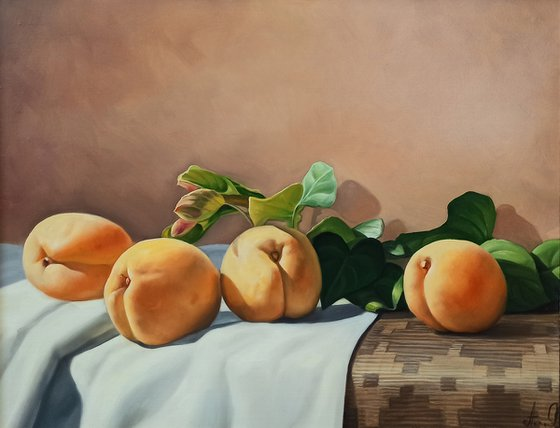 Still life with Armenian fruit (40x50cm, oil painting, ready to hang)