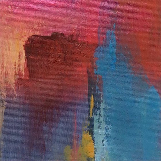Fusion II - framed original abstract painting