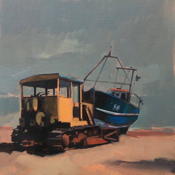 Dozer and Boat