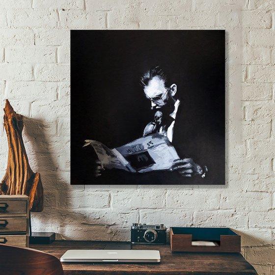 40cm x 40cm Contemporary Portrait Ref#0318-1