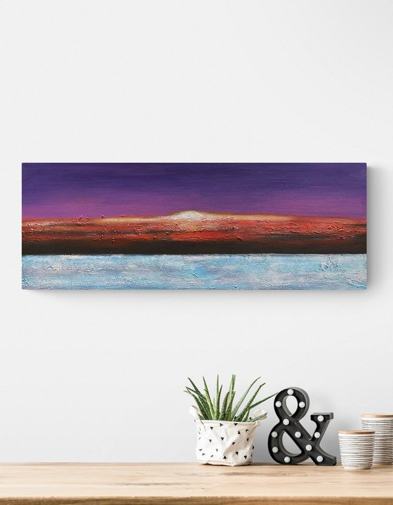 Red in the Evening - Rectangular - Landscape - Colours