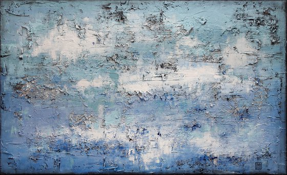 A165 (Contemporary abstract Spiritual Architecture Landscape Acrylic on canvas Large wall art Painting Series)