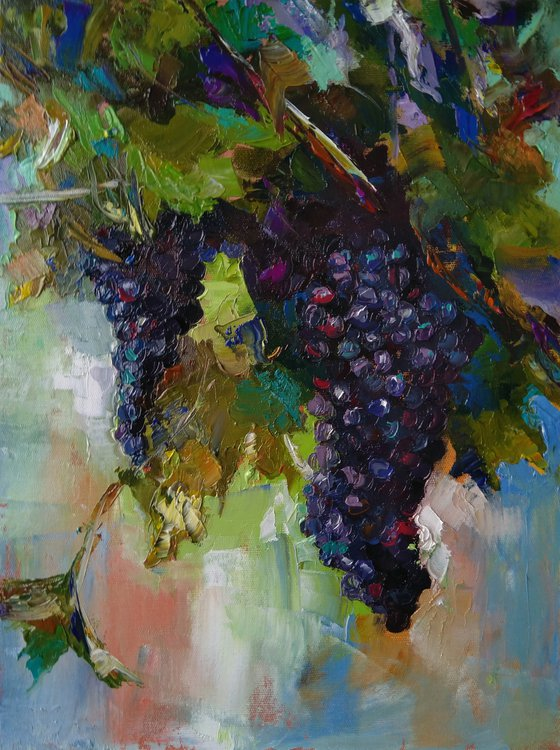 Grapes  (40x50cm, oil painting, ready to hang)