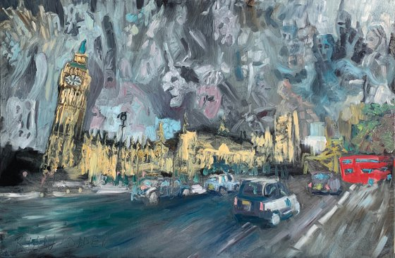 London Westminster Oil Painting - Picture of London - London Artwork