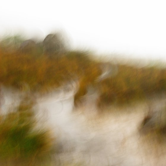 Moorland Mist, abstract impressionist landscape