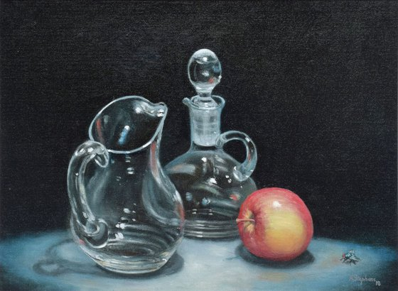 Glass with Apple