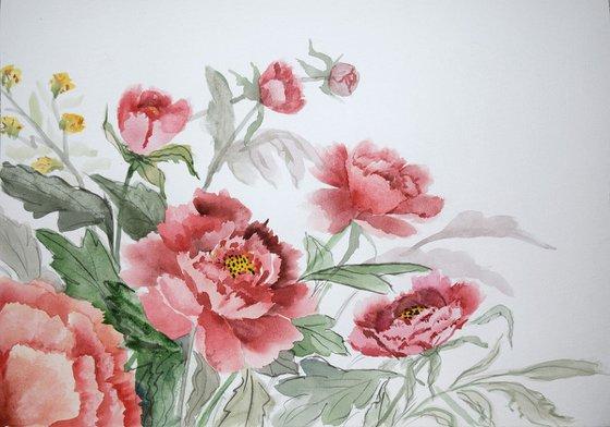 """Watercolour Flower's composition #6"" 21 х 29.7 (A4 size)"