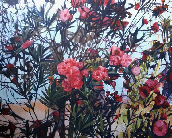 Summer- Large acrylic painting