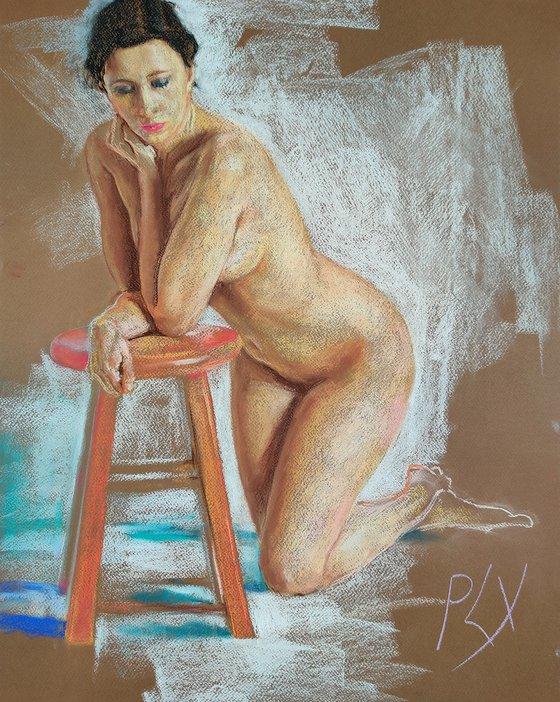 Calm - Figure study, nude, limited edition fine art prints