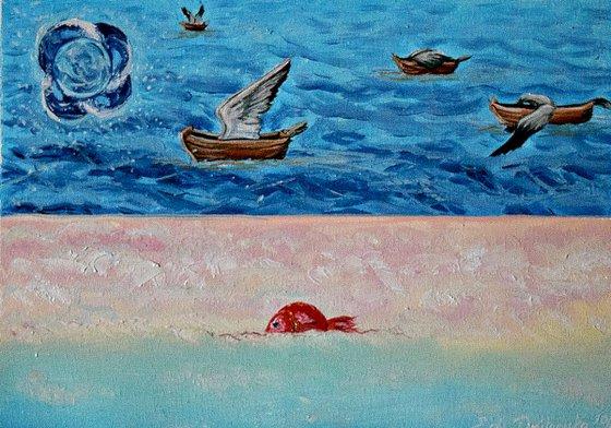 The world of my mind (21 Х 29,7 cm) surrealism , impressionism , fantasy , cute , naive