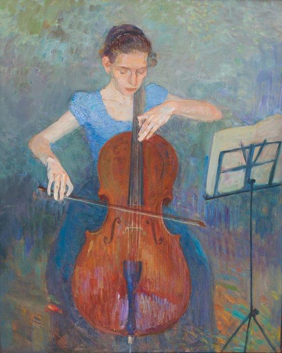 """""""Girl with a cello"""""""