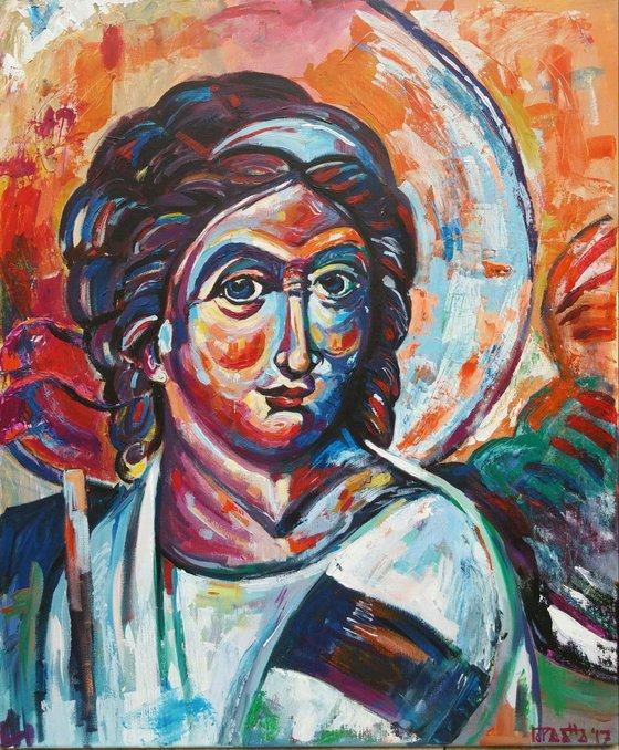"""White angel"", 50x60cm, (19.68""x23.62""), acrylic on canvas"