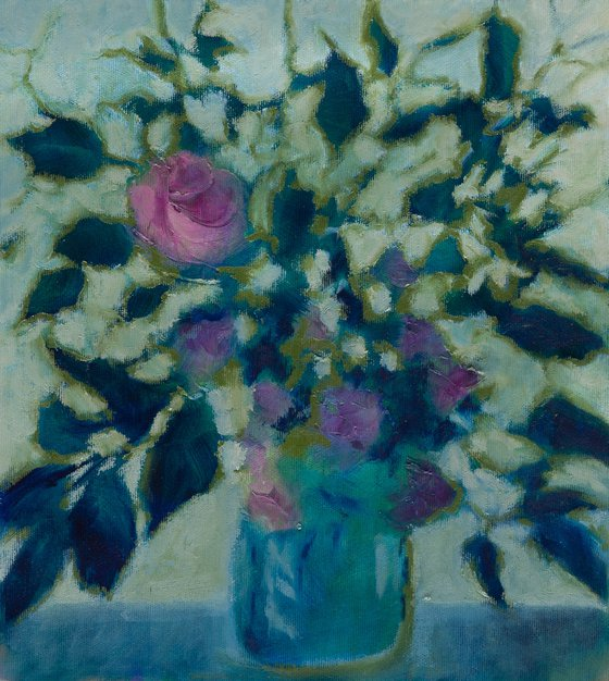Still life bouquet - oil painting