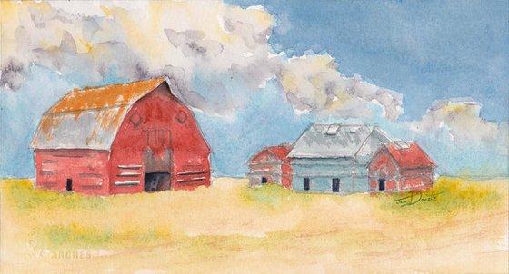 Out Regina Way - Regina Saskachewan, old barns on the prairies, farmyard