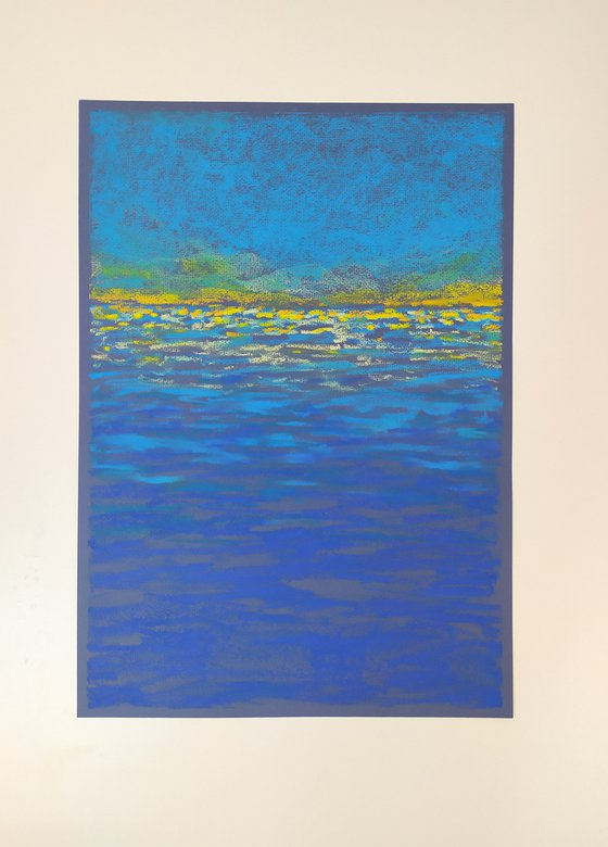 Abstract seascape Blue and yellow