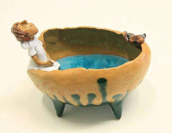 Ceramic | Bowl with girl