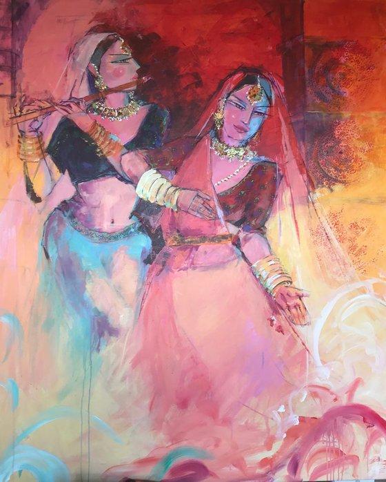 Two Mughal Dancers