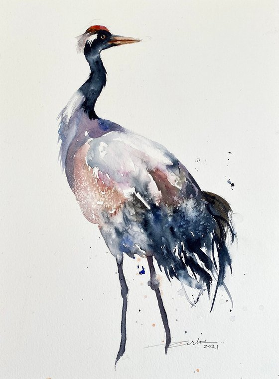 Red Crowned Crane_ Cris