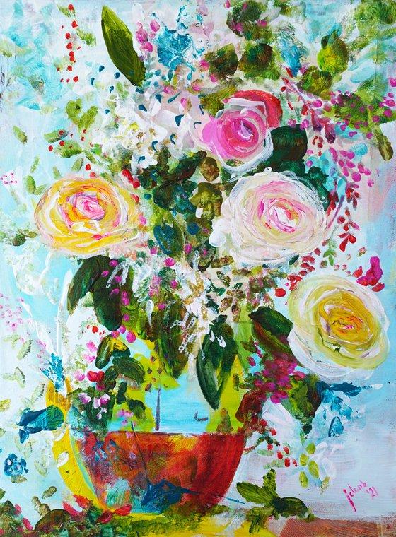 Summer Flowers 21 - 16x12in ~40x30cm