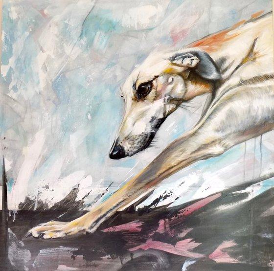 Greyhound painting called 'Vitality'