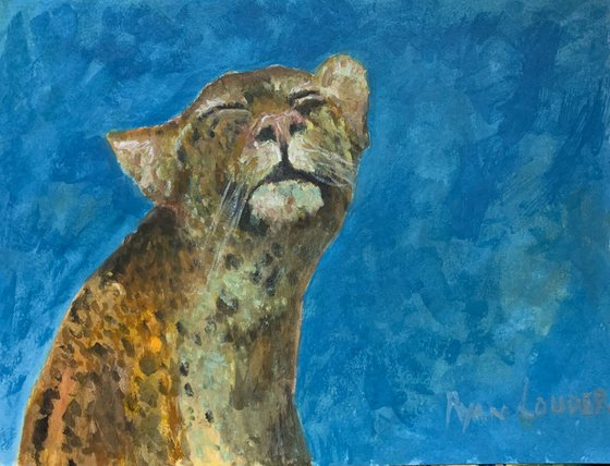 Leopard - wildlife painting - Big Cat Picture