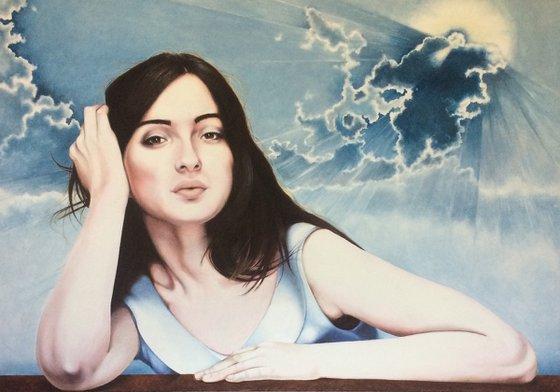 María in divine sky