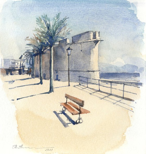 Summer day in Antibes