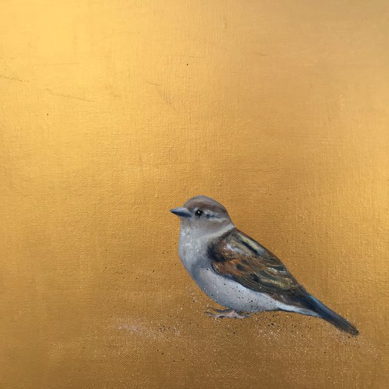 Little Sparrow ~ on Gold