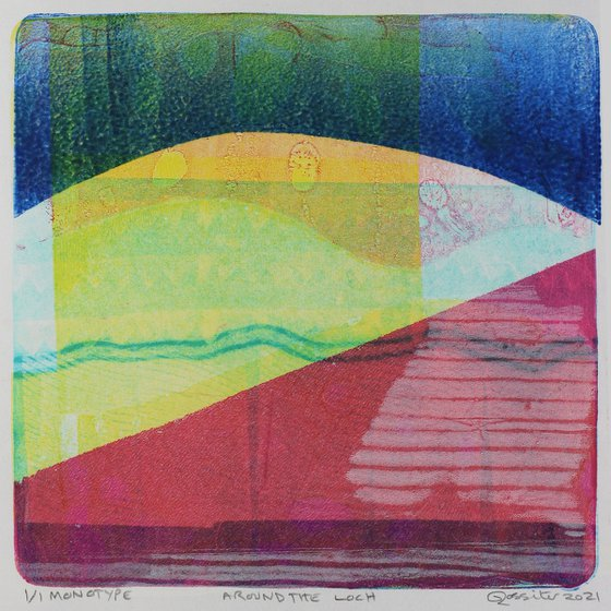 Around the Loch - Unmounted Signed Monotype