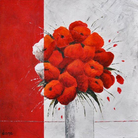 The vase of poppies