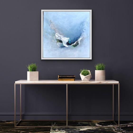 Simple Pleasure IV - Original painting - White Floating Framed