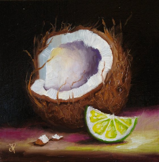 Lime coconut still life