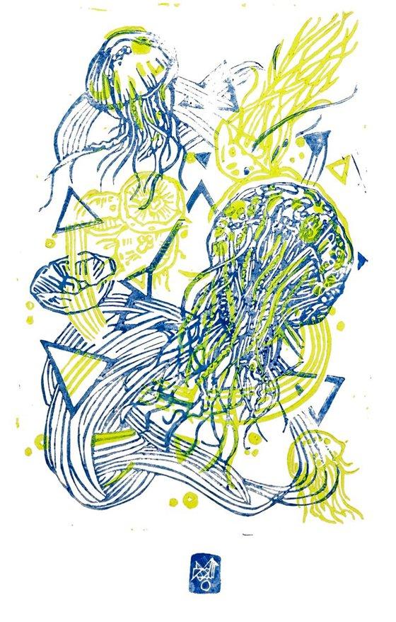 JellyFLUO- yellow fluo/ blue