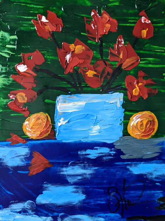 Poppies & Two Oranges III