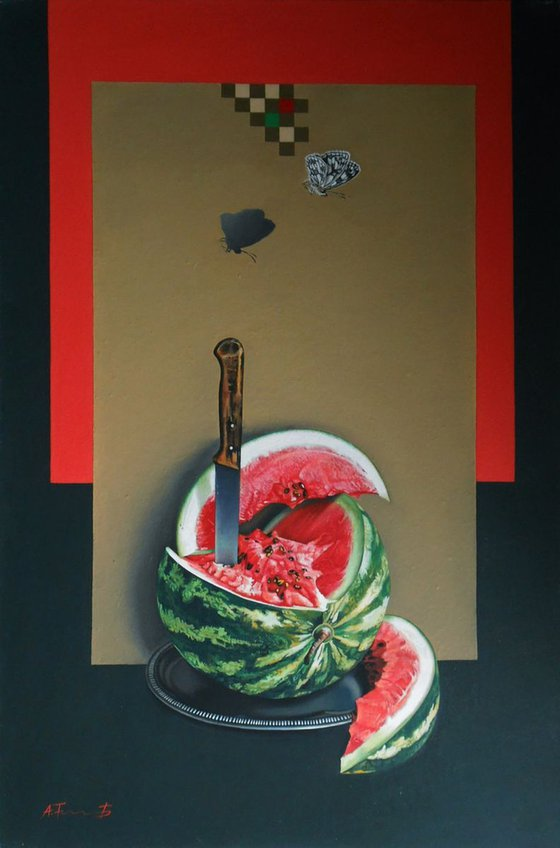 Watermelon and Knife