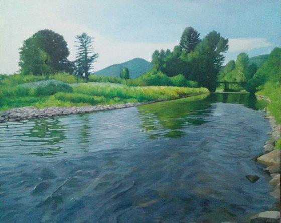 Knjazevac Landscape-Original acrylic painting