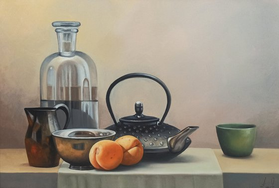 Still life - kitchen(40x60cm, oil painting, ready to hang)