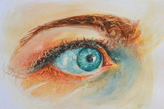 The sea eye colour sketch