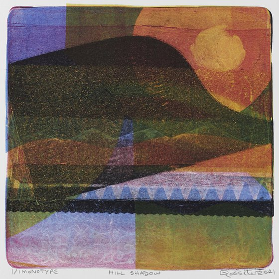Hill Shadow - Unmounted Signed Monotype