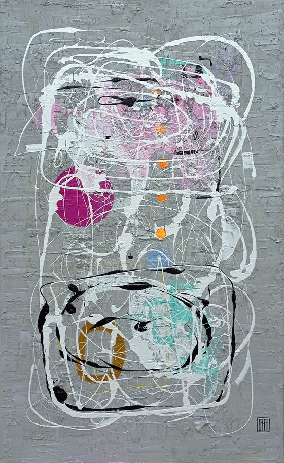 A137 (Contemporary abstract Spiritual Architecture Landscape Acrylic on canvas Large wall art Painting Series)